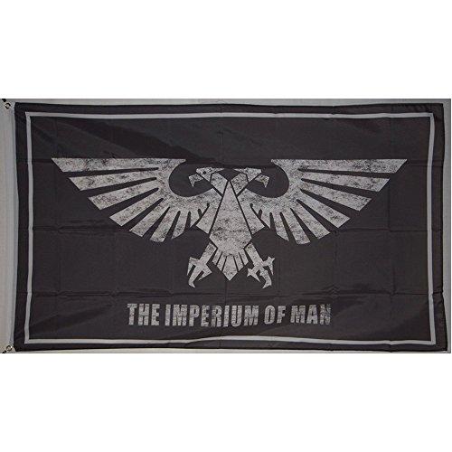 (Imperium of Man Warhammer Galactic Empire Eagle Flag Banner 3x5 feet)