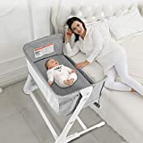 BABY JOY Baby Bedside Crib, 2-in-1 Bassinet