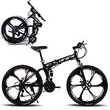 EGO TECHNOLOGY Bicicleta Plegable 26´ Doble Suspension Shimano Montaña Ciclismo