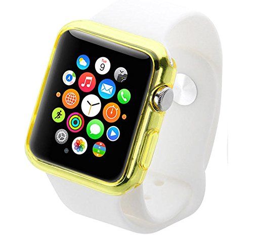 Silicone TPU Bumper Protective Cover Case For Apple Watch Series 3 2 42mm (YELLOW) by dooqi (Image #2)