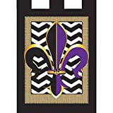 Cheap Magnolia Garden Fleur de Lis on Black Chevron Burlap 42 x 29 Rectangular Double Applique Tab Top Large House Flag