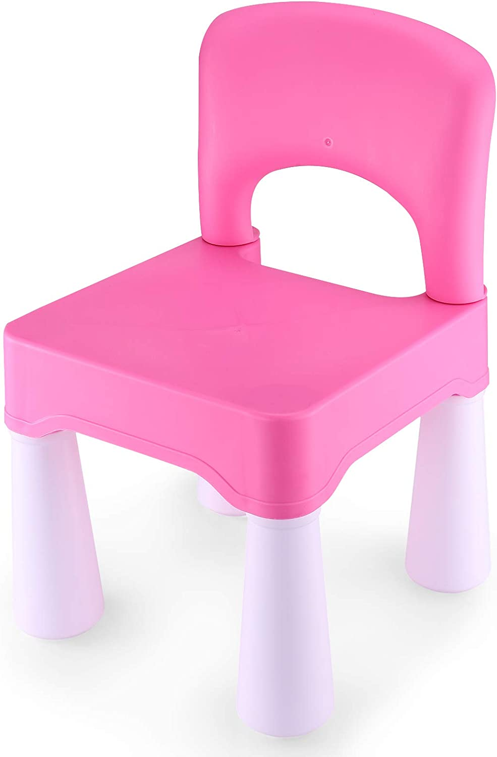 BITMEE Kids Chair, Toddler Chair, Toddler Chairs for Boys and Girls, Ergonomic Design, Eco-Friendly Durable Plastic, Indoor or Outdoor Use Kids Chairs for Boys and Girls- Barbie Pink