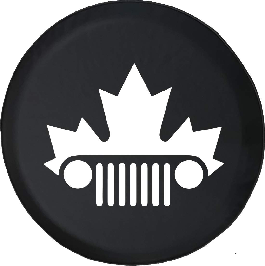 Jeep Tire Cover for Spare Tire Jeep Wrangler Canadian Flag Maple Leaf Black 33 Inch