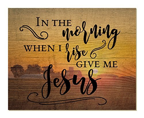 Teisyouhu Home Decorations Sign In The Morning When I Rise Give Me Jesus Wall Plaque Hanging Door Sign