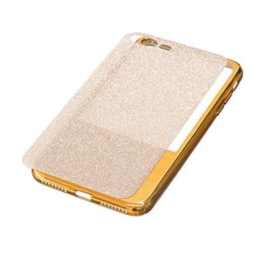 MXNET IPhone 7 Plus Fall, galvanisierender Spiegel TPU schützender rückseitiger Abdeckungs-Fall CASE FÜR IPHONE 7 PLUS ( Color : Gold )