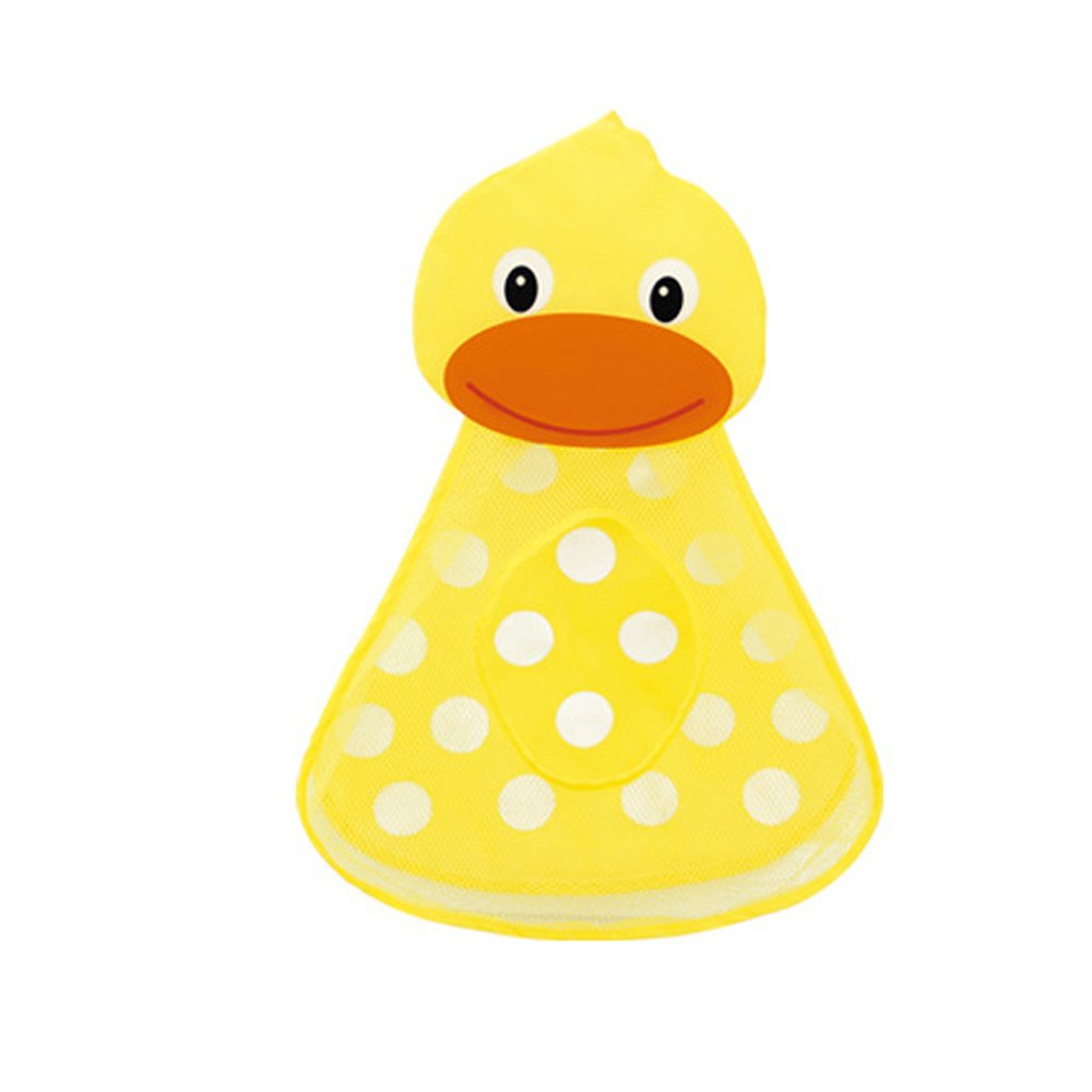 Huangou �� Educational Toys Bath Toy Net �� Baby Bathtub Toy Mesh Duck Storage Bag Organizer Holder Bathroom Organiser (Yellow, Free)