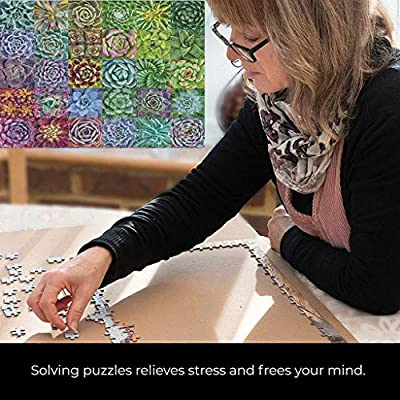 MOMFEI 1000 Piece Puzzles for Adults, Jigsaw Puzzles Novelty Games for Family, Landscape Art Painting Puzzles Toys DIY Creative Gifts Home Decor (Succulents): Kitchen & Dining