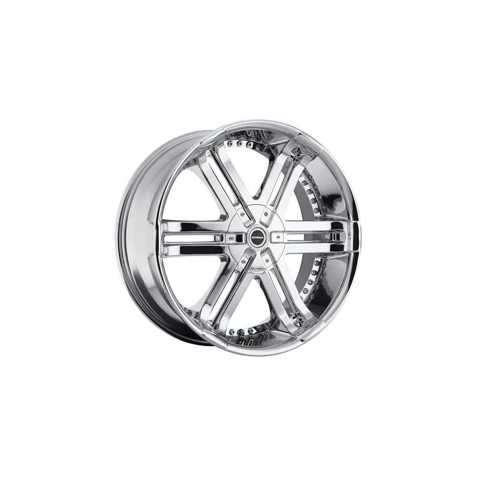 Strada Bastone 22 Chrome Wheel / Rim 5x5 & 5x135 with a 18mm Offset and a 87.1 Hub Bore. Partnumber H08250018