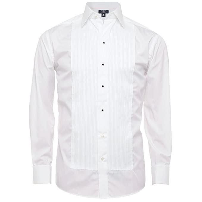 "54db487a20a6 Chef Code Men's Tuxedo Shirt With 1/4"" Pleats and Point Collar ..."