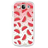 Samsung Galaxy S3 I9300 Case,Red Watermelon - Icy Summer Durable Hard Plastic Scratch-Proof Protective Case,White