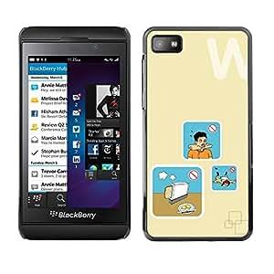 Be Good Phone Accessory // Dura Cáscara cubierta Protectora Caso Carcasa Funda de Protección para Blackberry Z10 // Bread Cooking Danger Art