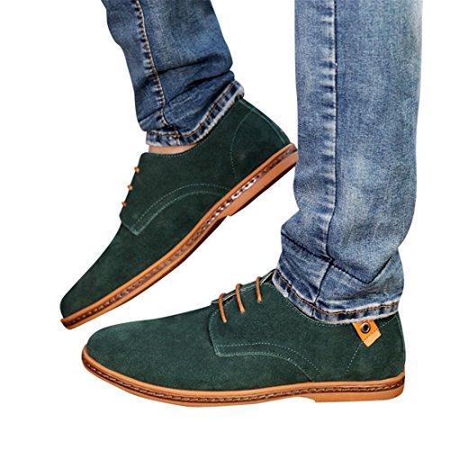 de Lacets d'affaires Neuves PU Hommes Chaussures à pour Oxfords Bout Cuir Vert Ville Chaussures BdnCZgqZ
