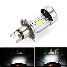 CICMOD 20W 1000LM Motorcycle LED Headlight H4 High/Low Beam H1S COB Moped Scooter Motobike Headlamp 6500K Xenon White Light DC 12V 1PC