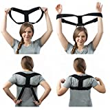 Posture Corrector Clavicle Support Brace, Upper Back Support Brace, Correction Brace for Men and Women, Improve Posture, Forward Head, Neck Alignment, Back Pain Relief, Prevents Slouching