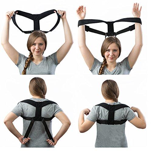 Upper Back Adjustable Brace To Improve Bad Posture Relax