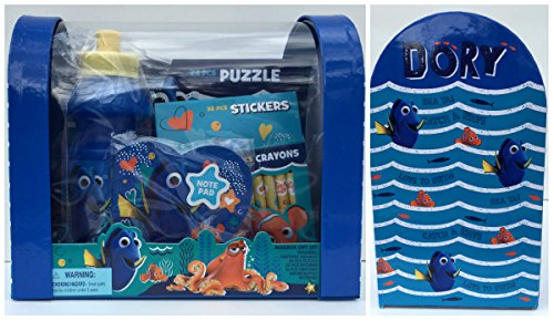 Price comparison product image Disney Finding Dory Valentine Mailbox Gift Set with Puzzle,Stickers,Crayons,Water Bottle and NotePad