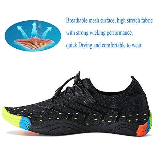 De Rochers Sécurité Chaussons D'eau Noir Et Laiwodun Plage Aquatiques Piscine Chaussures FZYqzf