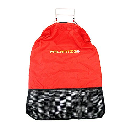 (Scuba Choice Palantic Red Lobster Fish Catch Gear Nylon Game Bag Net with Squeeze Open Handle)