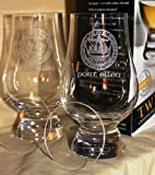 Port Ellen Islay Crest Twin Pack Glencairn Whisky Tasting Glasses with Watch Glass Covers
