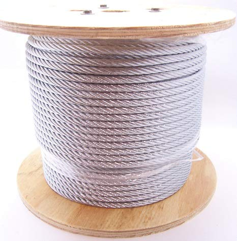 5/16'', 7x19 Galvanized Cable (100 ft Coil)