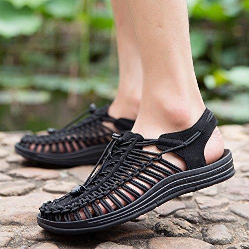 Xing Lin Flip Flop De La Playa Las Zapatillas De Playa Al Aire Libre _ Sandalias Artesanales Hombres Zapatos Agujero Exterior Antideslizante Baotou black