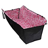 T Tocas® 49 * 15 * 21inch Auto Washable Double Layers Water Resistant Carrier for Pet Dogs Puppys Cats Safety Travelling Hammock Vehicle Car Back Beds Seats Covers Mat Blanket with Adjustable Clasps (Red)