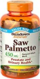Sundown Saw Palmetto 450 mg Capsules 250 ea (Pack of 12)