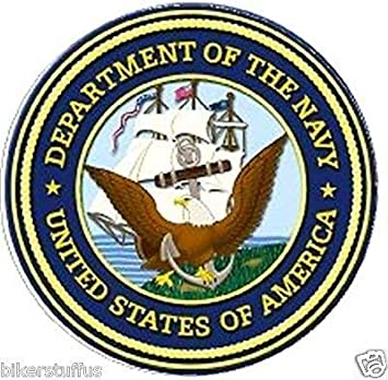 3.5 X 10 United State Navy Logo Premium Quality Long Lasting Sticker Decal