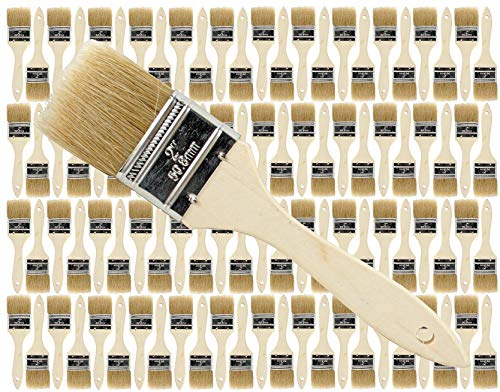 (96 Pack of Single X Thick Paint and Chip Paint Brushes for Paint, Stains, Varnishes, Glues, Acrylics and Gesso. (2