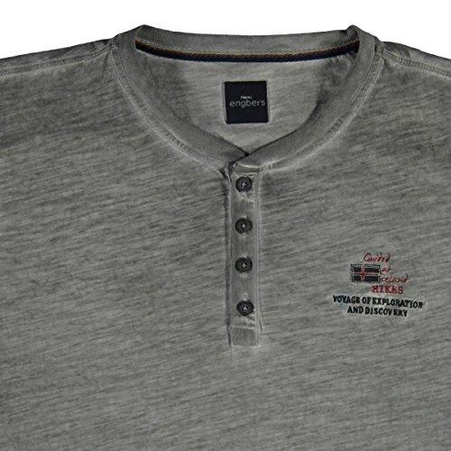 engbers Herren Summerdark Henley Shirt, 23875, Grau