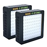 [Pack of 2]MarsHydro MARSII400 Led Grow Light Full Spectrum High Penentration 187W True Watt Panel Led Grow Lamp Light & Lighting with Dual Veg/Flower Spectrum