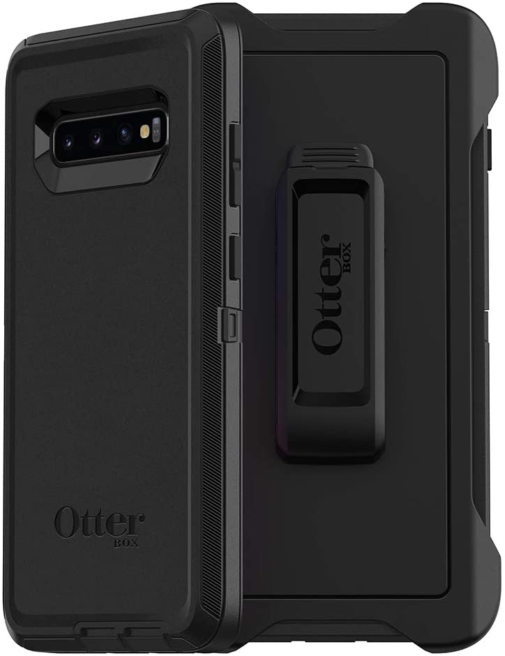 OtterBox DEFENDER SERIES SCREENLESS EDITION Case for Galaxy S10+ - BLACK