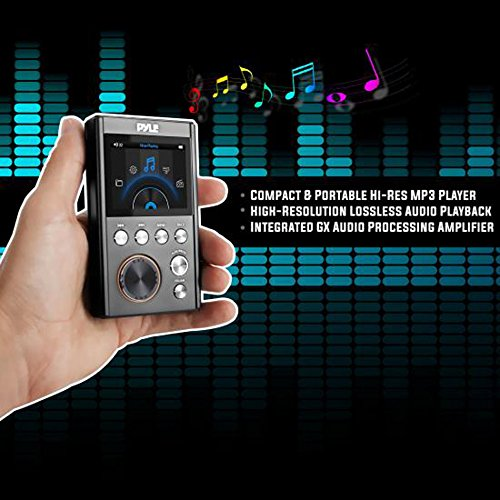 Processing Digital Equalizer (Lossless Digital MP3 Audio Player - HiFi Hi-Res Portable Music Player, High Resolution with USB Flash, 128GB MAX Micro SD Card Reader, 3.5mm Headphone Jack, Supports Multiple Audio Formats - Pyle)