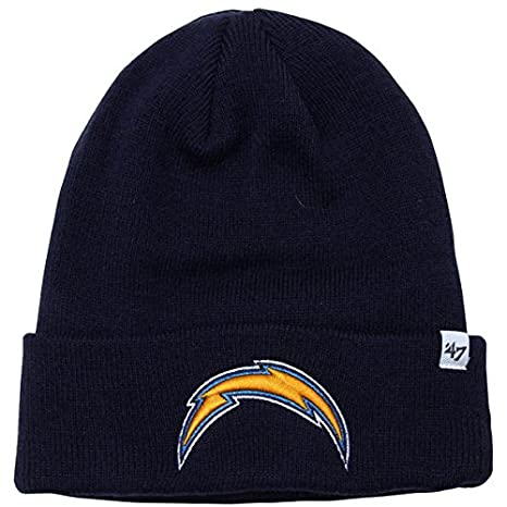 47 Brand San Diego Chargers Blue Basic Raised Cuffed Sport Field Winter  Stocking Beanie NFL a036c57e25e