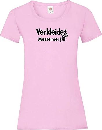 camiseta de chica Verkleidet als Lanzador del cuchillo ...