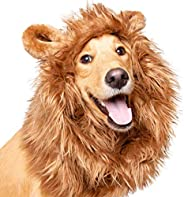"""Pet Krewe Dog Lion Mane Halloween Costume – Fits Neck Size 13""""- 32""""- Lion Mane for Small Dogs – Ideal for Hall"""