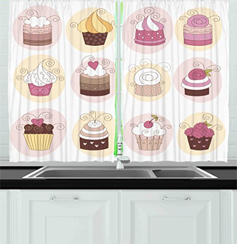 Ambesonne Collection Confectioners Decorations Treatments