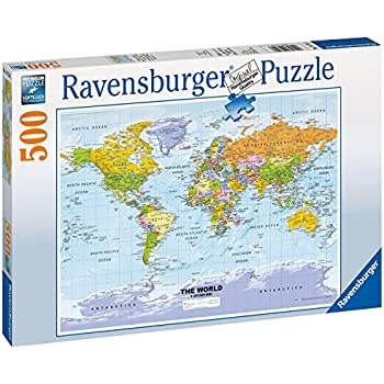 Amazon ravensburger political world map jigsaw puzzle 500 ravensburger political world map jigsaw puzzle 500 piece gumiabroncs Gallery