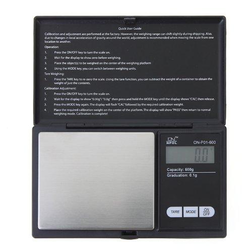 Kingzer Digital Scale 600g/ 0.1g Mini LCD Jewelry Gold Diamond Coin Gram Pocket Size by KINGZER
