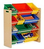 Honey-Can-Do SRT-01602 Kids Toy Organizer and Storage Bins, Natural/Primary, Baby & Kids Zone