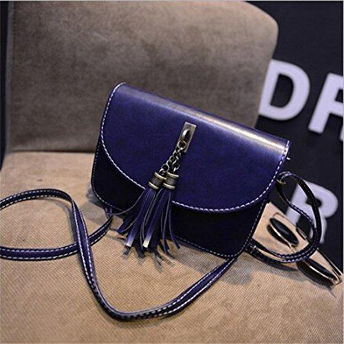 Yesiidor Tasche Damen Klein Umhänge Shopper Umhängetasche Handtasche Messenger Blau