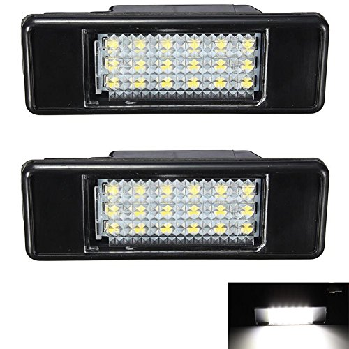 KATUR 2x White 18SMD LED License Plate Light For Peugeot 106 207 307 308 406 407 508 Car Styling