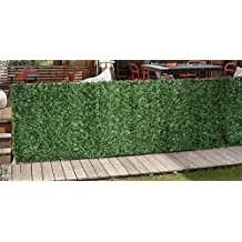 Synturfmats Artificial Hedge Slats Panel for Chain Link Fencing Outdoor Faux Hedge Privacy Screen Fence, 3.3x10ft