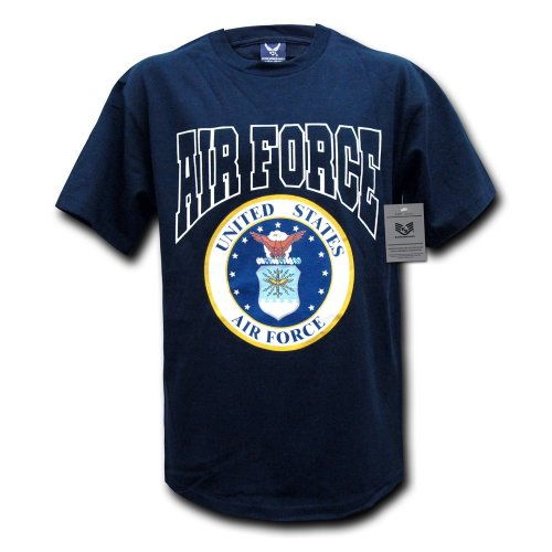 Rapiddominance Air Force Classic Military Tee, Navy, Large