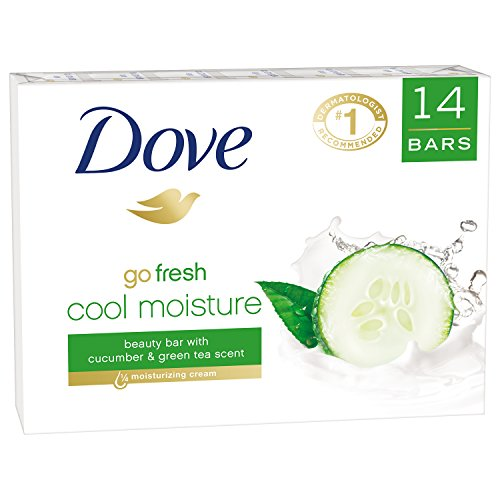 Dove go fresh Beauty Bar, Cucumber and Green Tea 4 oz, 14 Bar