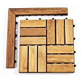 Le Click 1'' x 1.5'' Teak Corner Pieces in Natural with Loop and Pin Side