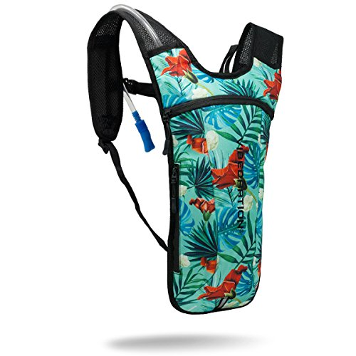 Rave Hydration Pack By Vibedration   2L Water Capacity   Rave Fashion  Music Festival Gear  Hiking Pack  Maui Wowi   Aqua