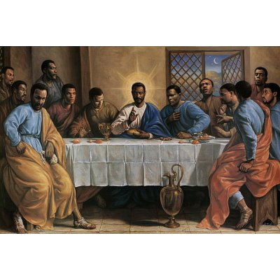 (24x36) Sarah Jenkins (Last Supper) Art Poster Print (Black Jesus Picture)