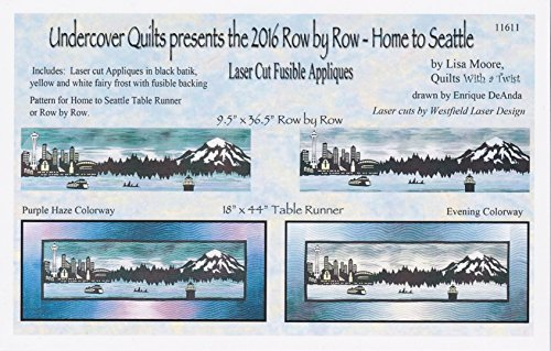 Background Quilt Fabric (2016 Row by Row, Home to Seattle, Seattle Skyline, Laser Cut Quilt Appliqué Kit with Light Evening Background Fabric)