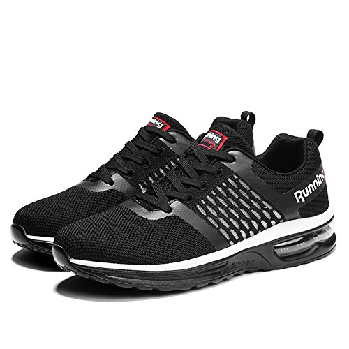 Men's Women's Shoes Outdoor Cushion Jogging Air Black Sport Running Sneakers 6Zq6OTw